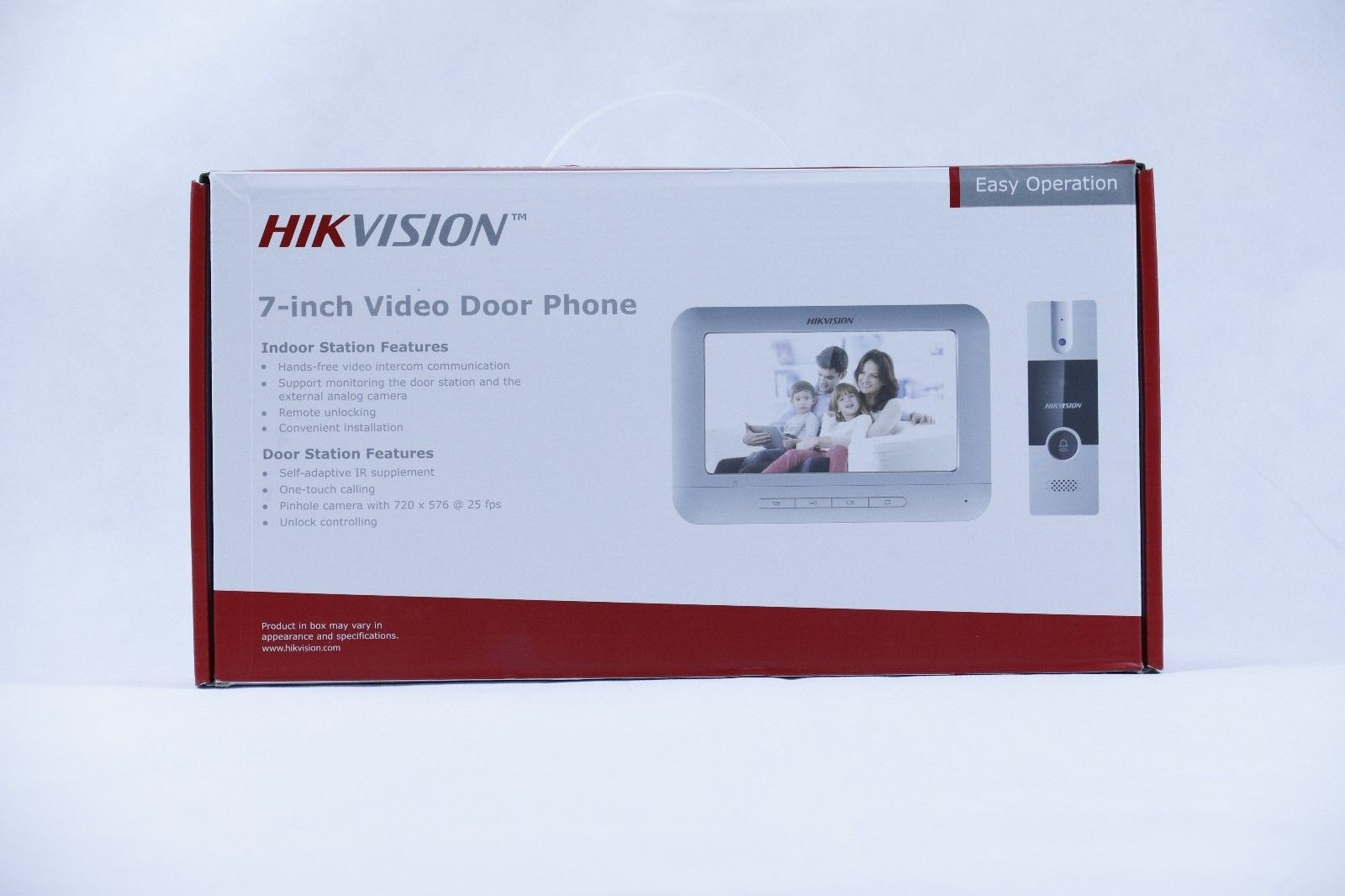 Hikvision DS KIS202 Door Bell Video Entry Intercom 7 Monitor Audio Station Complete Kit Set System