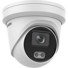 Hikvision DS-2CD2347G2-LU 4MP AcuSense ColorVu MIC IP CCTV Turret Network Camera