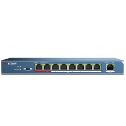 Hikvsion DS-3E0109P-E 8 Ports 1 Uplink Unmanaged PoE IEEE 802.3AF/802.3AT 10/100/100MBPS 123W RJ-45 100M Network LAN Switch