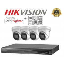 Hikvision DS-2CD2385G1-I 8MP 4K DarkFighter 4 Camera KIT