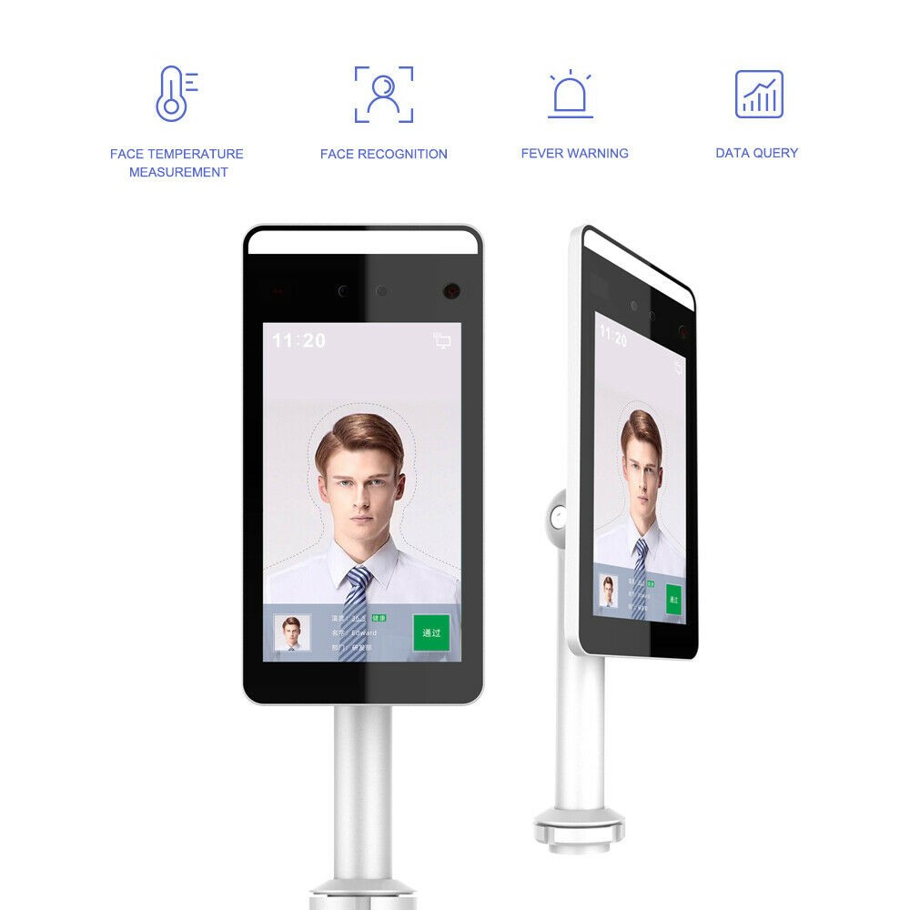 ERTECH Fever Detection Face Recognition Temperature Scanning IP System Access Terminal