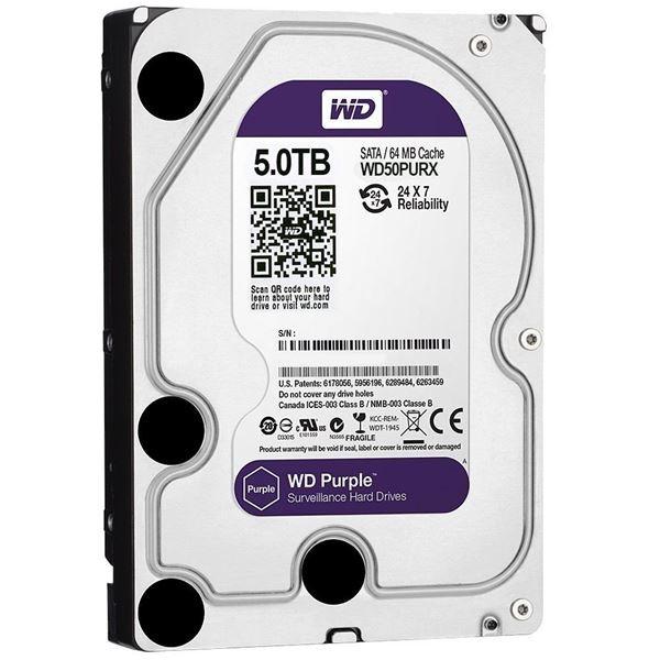 Western Digital WD Purple 5TB 64MBs 3.5 SATA HDD Surveillance CCTV Hard Drive