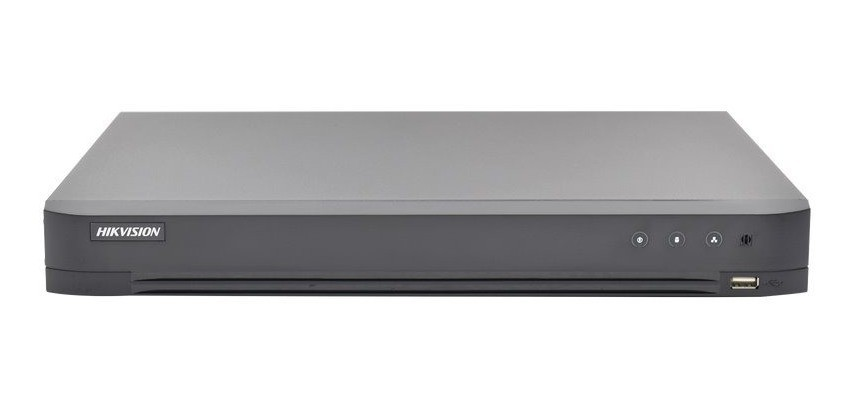 Hikvision DS-7204HUHI-K1/P 4 Channel 4K 5MP DVR POC Turbo HD-TVI AHD IP HD-CVI BNC Analog Audio Digital Video Recorder