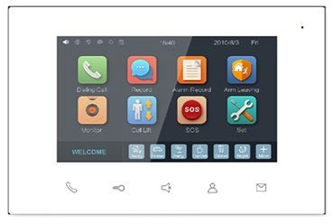 """Video Intercom Indoor Station 7"""" Touch Screen Monitor TFT LCD 24V"""