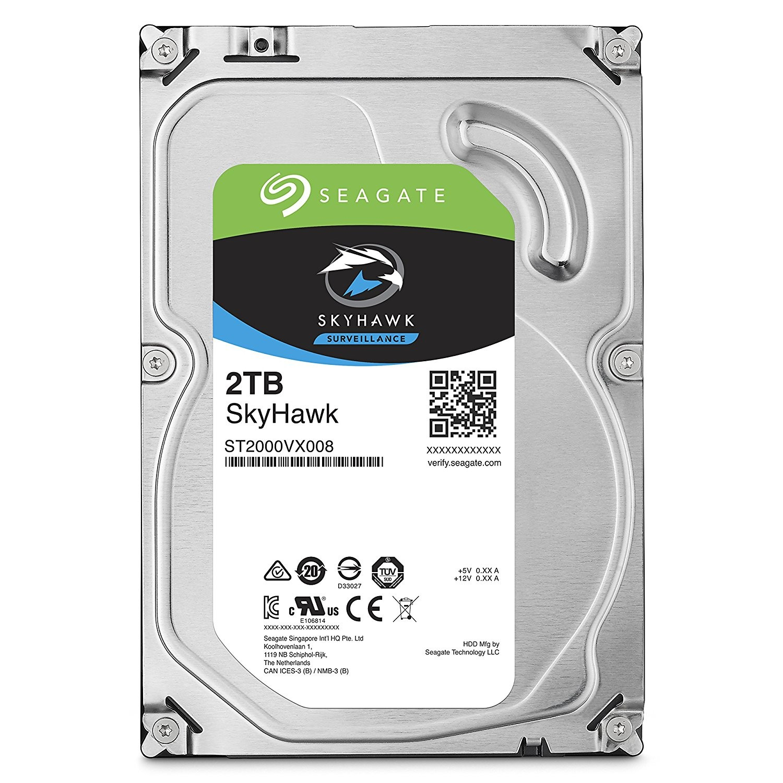 Seagate 2TB SKYHAWK 64MB 3.5 HDD Surveillance CCTV Hard Drive