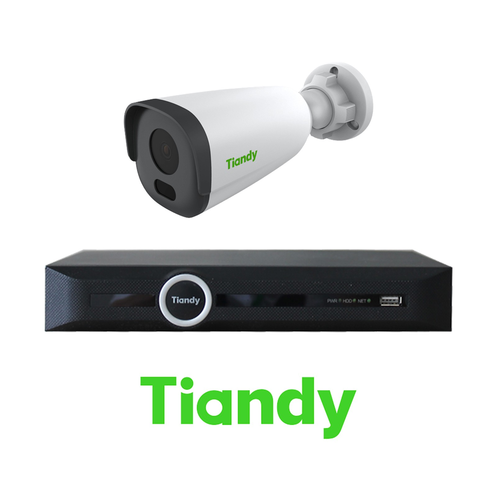 Tiandy 2MP 4-8-16 IP Camera KIT Bundle Complete Bullet 4MM CCTV System 1080P 5CH 10CH 20CH NVR Cables Monitor 1-20TB HDD