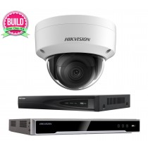 Hikvision 5MP 1-8 IP Camera Kit Bundle Complete Dome CCTV System H.265 4K UHD 4CH 8CH NVR Cables Monitor 1-20TB HDD