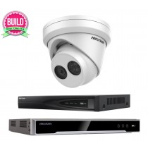 Hikvision 6MP 1-8 IP Camera Kit Bundle Complete Turret CCTV System H.265+ 4K UHD 4CH 8CH NVR Cables Monitor 1-20TB HDD