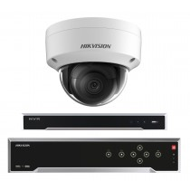 Hikvision 5MP 8-16 IP Camera Kit Bundle Complete Dome CCTV System H.265 4K UHD 8CH 16CH NVR Cables Monitor 1TB-40TB HDD