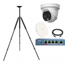 Hikvision DS-2TD1217B Fever Screening Thermographic Turret Body Temperature Measurement Turret Camera - Solutions KIT