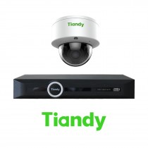 Tiandy 2MP 4-8-16 IP Camera KIT Bundle Complete DOME VF 2.8-12MM CCTV System 1080P 5CH 10CH 20CH NVR Cables Monitor 1-20TB HDD