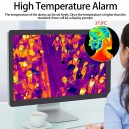 ERTECH Fever Detection Face Body Temperature Thermal Scanner IP Camera Fire Heat Alarm