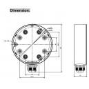 Hikvision DS-1280ZJ-DM21 Metal Deep Base Back Box For -DS-2CD2742FWD-I(S)  DS-2CD2712F-I DS-2CD2712F-IS DS-2CD2722F-I DS-2CD2722F-IS DS-2CD2732F-I DS-2CD2732F-IS