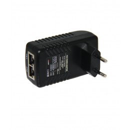 Folksafe FS-48D500 POE Injector Adapter Wall Plug Power Supply 60W DC-48V/1.25A EU Plug