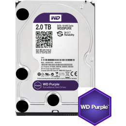 Western Digital WD Purple 2TB 64MBs 3.5 SATA HDD Surveillance CCTV Hard Drive