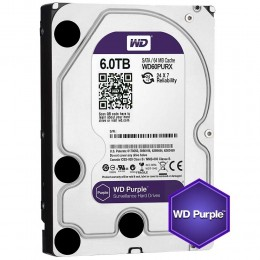 Western Digital WD Purple 6TB 64MBs 3.5 SATA HDD Surveillance CCTV Hard Drive