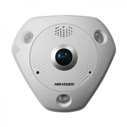Hikvision DS-2CD6362F-IVS Fisheye Camera 6MP 360° Panoramic 1.27MM Lens POE IP67 MIC Speaker Virtual PTZ