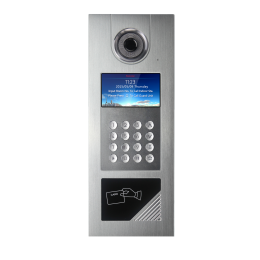 Multi Apartment Intercom Outdoor Station Video Door Bell Entry Station Access Control Magnetic Door Card Reader