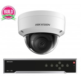 Hikvision 5MP 16-32 IP Camera Kit Bundle Complete Dome CCTV System H.265 4K UHD 32CH NVR Cables Monitor 1TB-40TB HDD