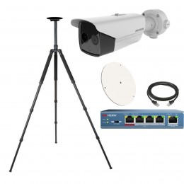 Hikvision DS-2TD2636B-15/P Fever Screening Thermal & Optical Network Bullet Camera - Solutions KIT