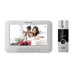 """Hikvision DS-KIS202 Door Bell Video Entry Intercom 7"""" Monitor Audio Station Complete Kit Set System"""