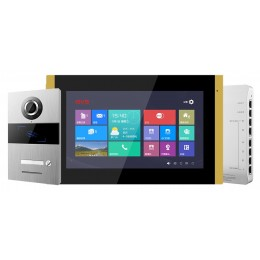 "GVS Home IP Video/Audio Intercom System Kit POE Indoor Outdoor Villa Station Doorbell 10"""